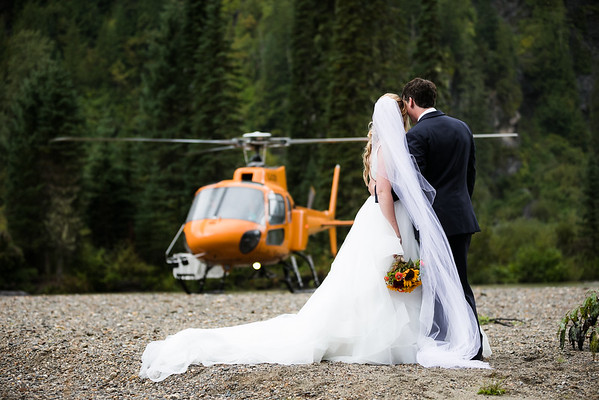 Frankie + Jordan Heli Wedding