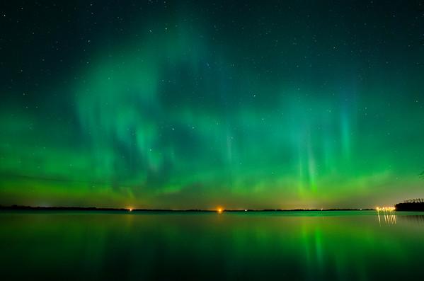 Northern Lights at Glennifer Lake, Alberta