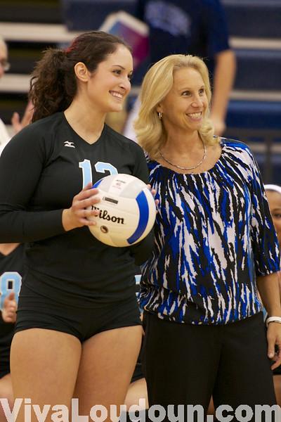 Girls Volleyball: Ryan Ackermann 1,000 Kills (By Jeff Scudder)