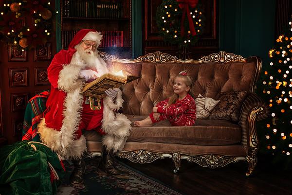 Everly Santa Photo