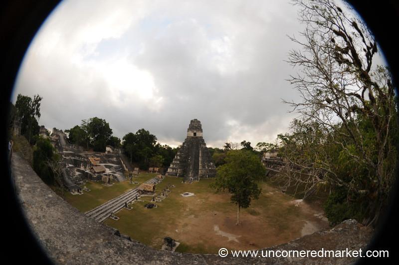 Tikal Great Plaza, Fisheye - Guatemala