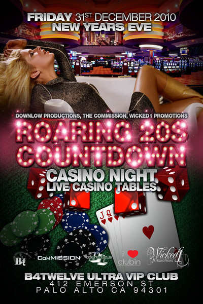 Downlow Productions, The ComMission, Wicked1 Promotions presents ROARING 20S COUNTDOWN @ B4TWELVE 12.31.10