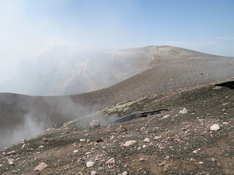 Fumerole on the side of the crater