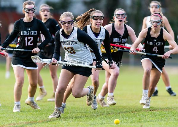 Broughton girls varsity lacrosse vs Middle Creek. February 28, 2020. D4S_0381