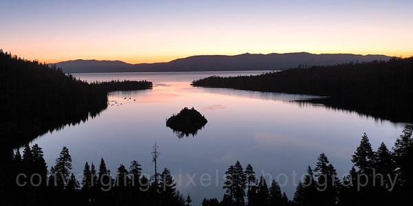 Sunrise at Emerald Bay, Lake Tahoe.  8461b