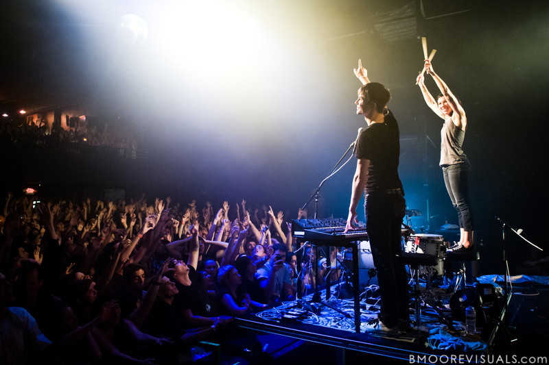 Matt Johnson and Kim Schifino perform during Matt & Kim's sold-out show on October 15, 2010 at State Theatre in St. Petersburg, Florida