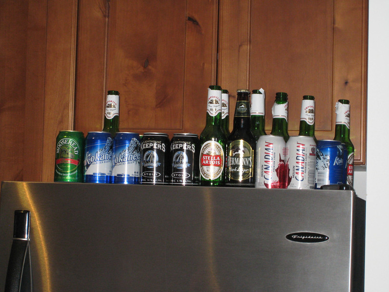 Just a few of our assorted libations consumed!