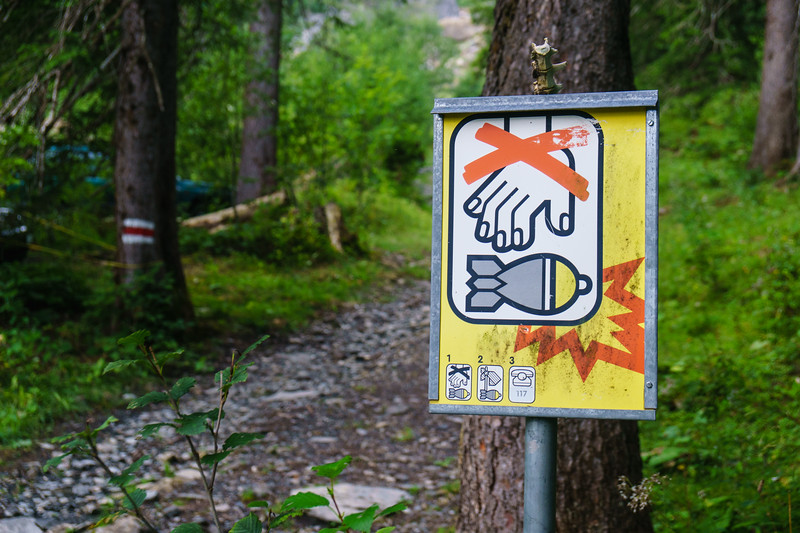 Just your average trail sign in Switzerland.