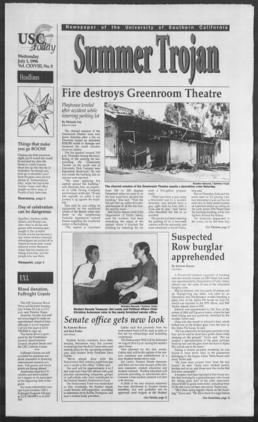 Summer Trojan, Vol. 128, No. 8, July 03, 1996