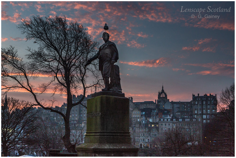David Livingstone statue (with gull), East Princes Street Gardens
