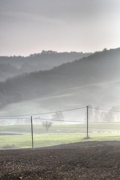Mist - Vezzano sul Crostolo, Reggio Emilia, Italy - October 20, 2012