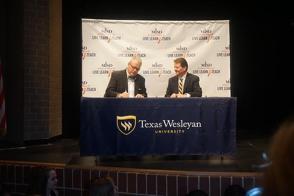 Texas Wesleyan University Partnership Ceremony