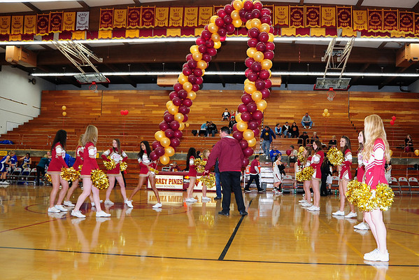 Senior Night, including Cheerleaders, 2-16-11