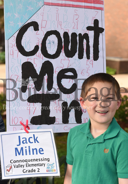 Harold Aughton/Butler Eagle: Jack Milne, second grader at Connoquenessing Valley Elementary.