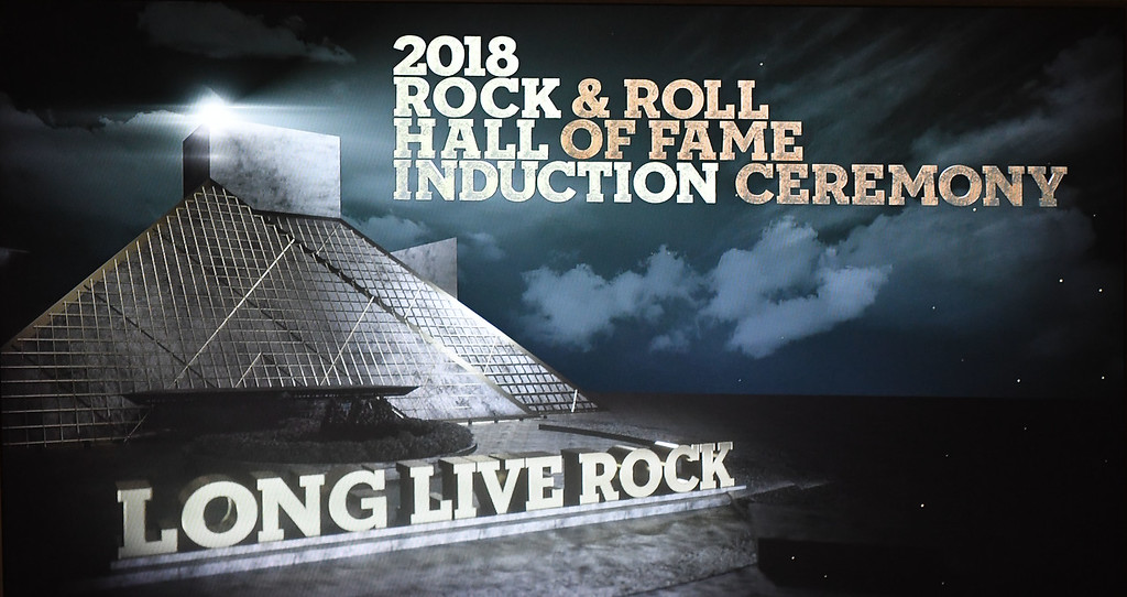 . Eric Bonzar�The Morning Journal<br> The Rock and Roll Hall of Fame held its induction ceremony at Cleveland\'s Public Auditorium, April 14, 2018.
