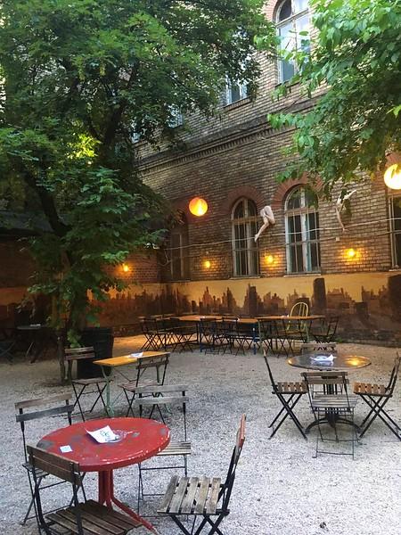 Dürer Kert - Outdoor bar in Budapest, inner yard of a university college