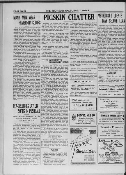 The Southern California Trojan, Vol. 11, No. 3, October 10, 1919