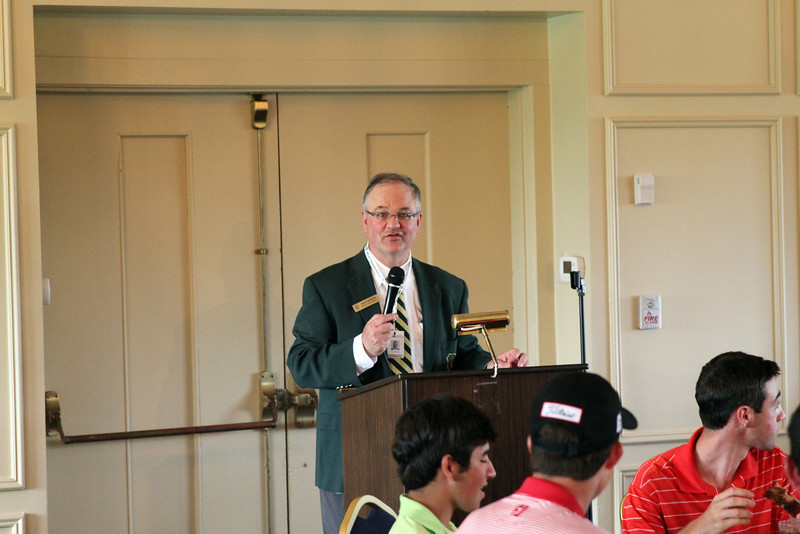 Western Junior Chairman David Haverick welcomes families and players to the 2014 Western Junior Championship.