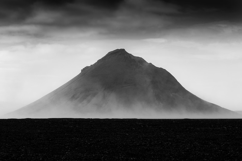 Maelifell fine art black and white Iceland Highlands landscape photography.jpg