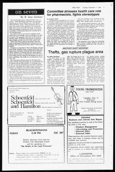 Daily Trojan, Vol. 89, No. 39, November 11, 1980