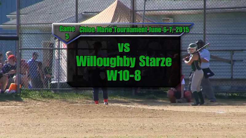 Chloe Marie Ravenna June 6-7, 2015 Game 5 vs Willoughby Starze W10-8