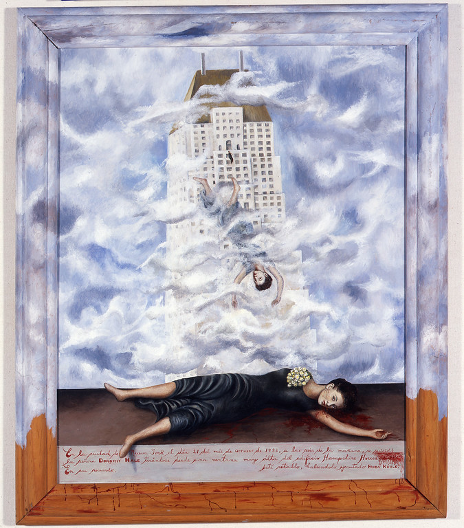 . Suicide of Dorothy Hale, Frida Kahlo, 1940, oil on masonite, Collection of Phoenix Art Museum, Gift of an anonymous donor
