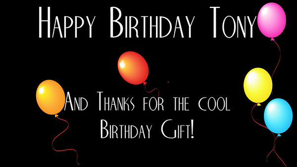 Tony Birthday Card