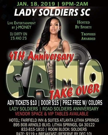 Lady Soldiers 4th Anniversary Party