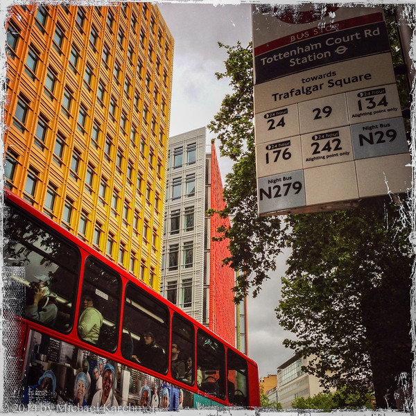 Tottenham Court Rd near the Underground Station (May, 2014)