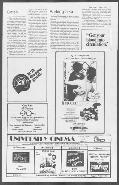 Daily Trojan, Vol. 76, No. 53, May 04, 1979