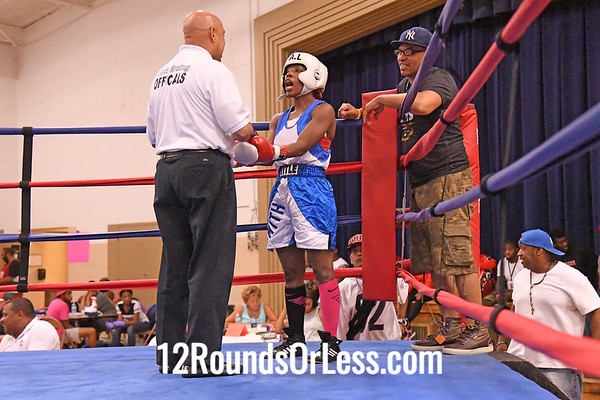 Bout #8: Rebecca Maines, Blue Gloves, Helmans BC, Punxsutawney, PA -vs- Asia Smith, Red Gloves, Thurgood Marshall PAL, Cleveland, 122 Lbs Female