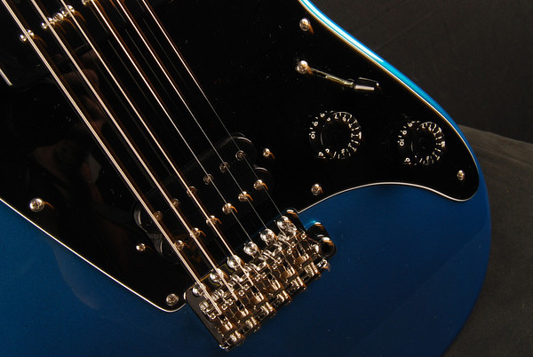 ElectraJet Custom, Blue Over Black Metallic, G90/H Pickups