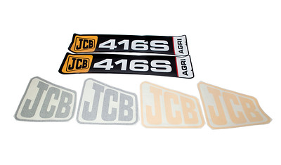 JCB 416S SERIES NEW TYPE BONNET DECAL SET
