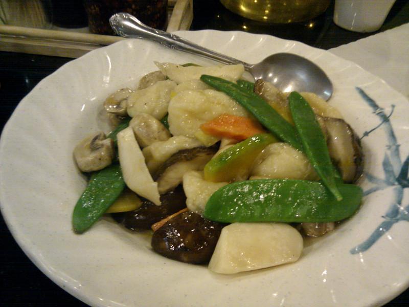 Hong Kong Kitchen - Seafood and Veggie Medley with Pumpkin Squash and Fish Puff