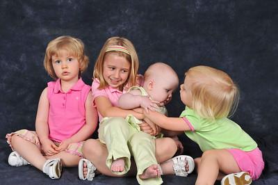 Girls Cousins Visit Charlotte - April 2008