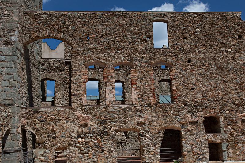 Marnie shot--Monastery walls  (Monasterio de Sant Pere de Rodes)
