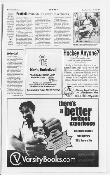 Daily Trojan, Vol. 141, No. 3, August 30, 2000