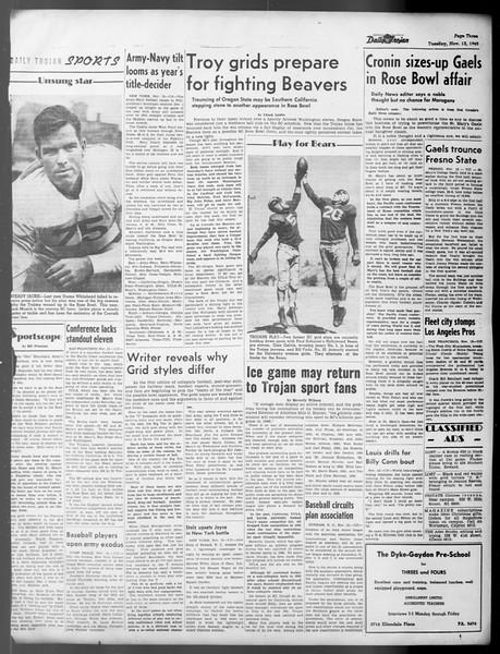 Daily Trojan, Vol. 37, No. 9, November 13, 1945