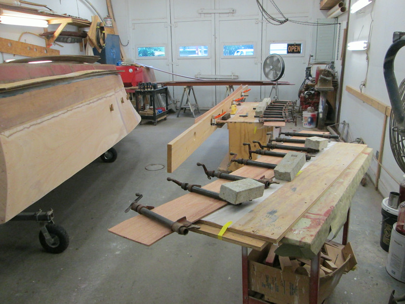 Making the front plank at the shear line
