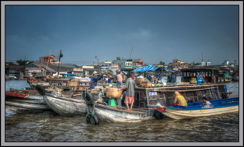 The Floating Market at Can Tho, Vietnam.