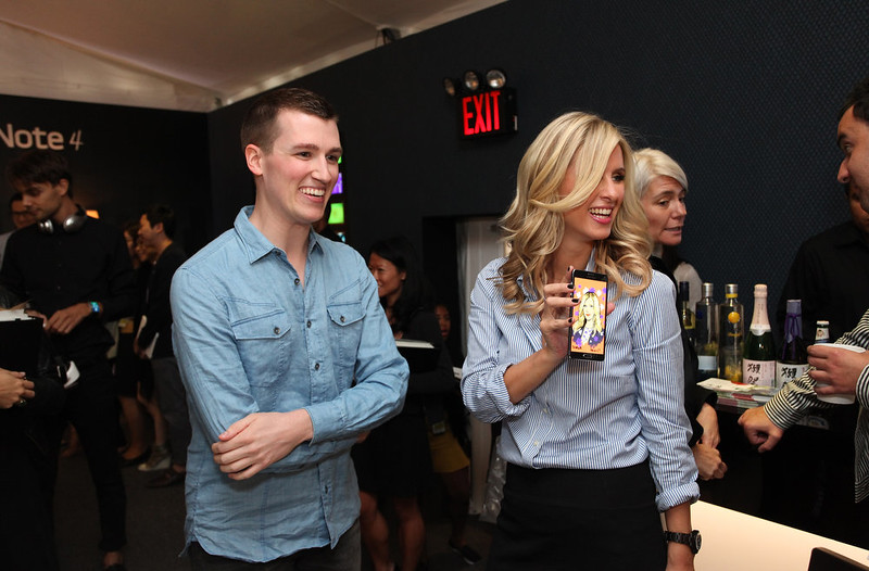 . Artist Michael Hoeweler and Nicky Hilton attend Samsung event at Mercedes-Benz Fashion Week Spring 2015 at Lincoln Center on September 4, 2014 in New York City.  (Photo by Donald Bowers/Getty Images for Samsung)