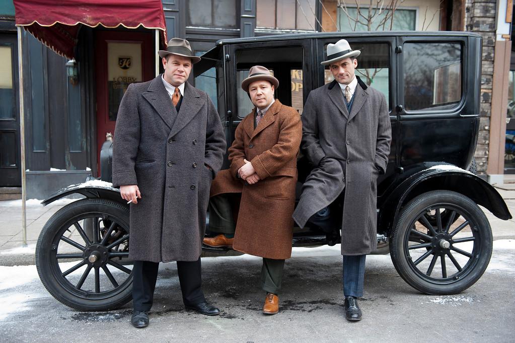 . BOARDWALK EMPIRE episode 37 (season 4, episode 1): Domenick Lombardozzi, Stephen Graham, Morgan Spector. photo: Macall B. Polay