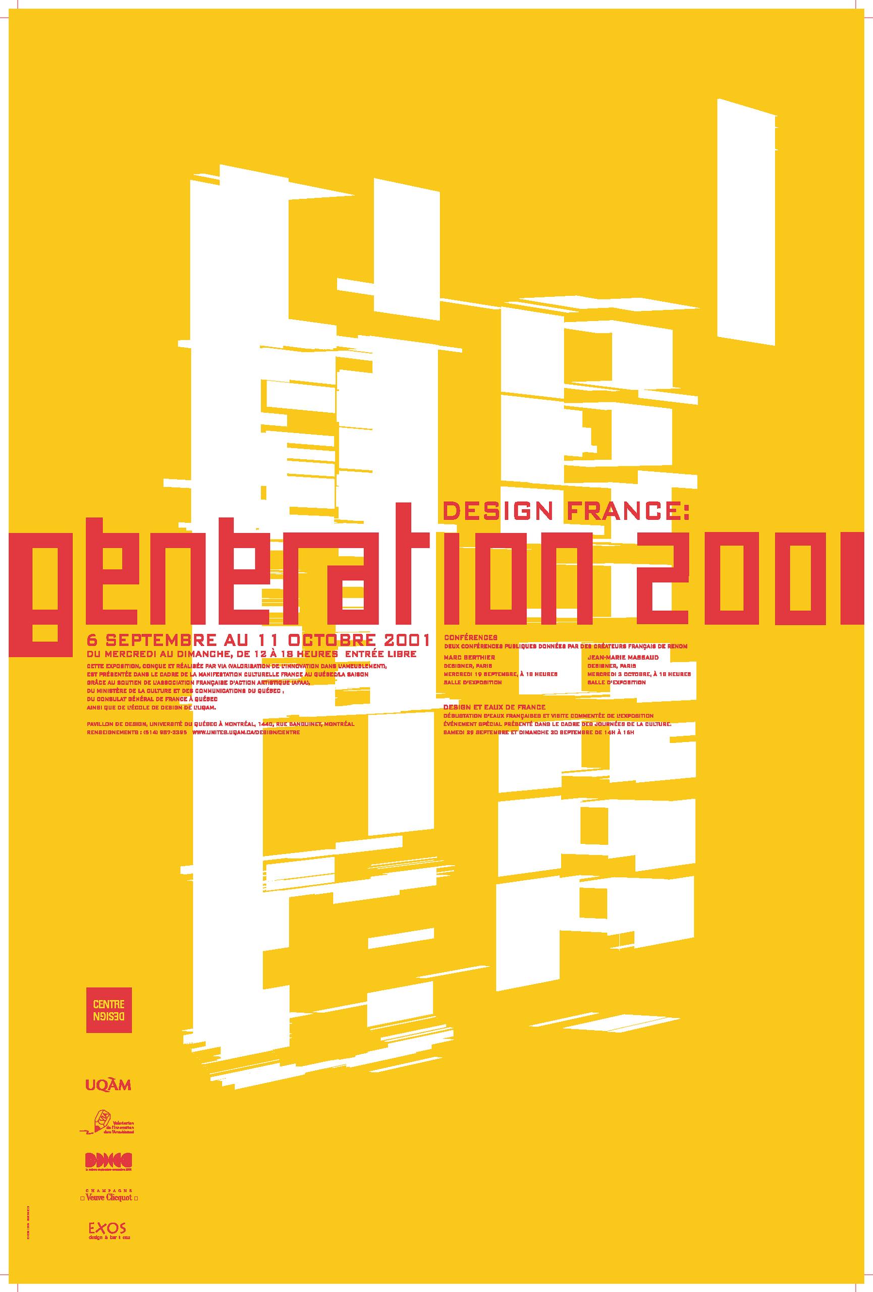 2001 - Exposition - Design France Génération 2001 ©Alexandre Renzo