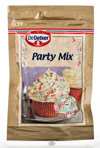 308399 Dr.OETKER Erivärvilised ströslid Party Mix 50g (18) 5701073063668