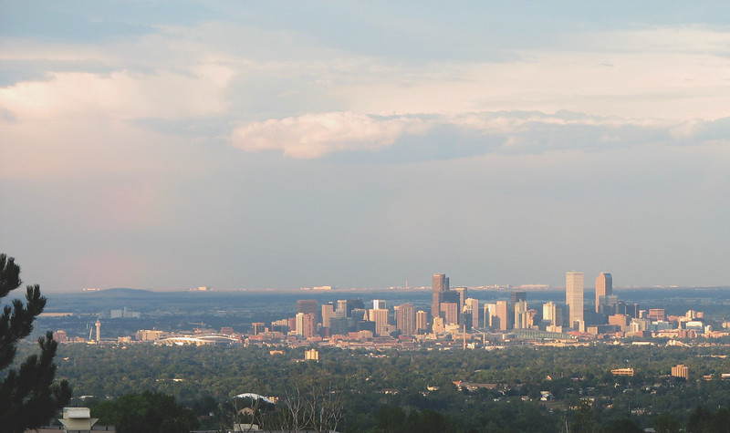 Downtown Denver, view from Green Mtn.
