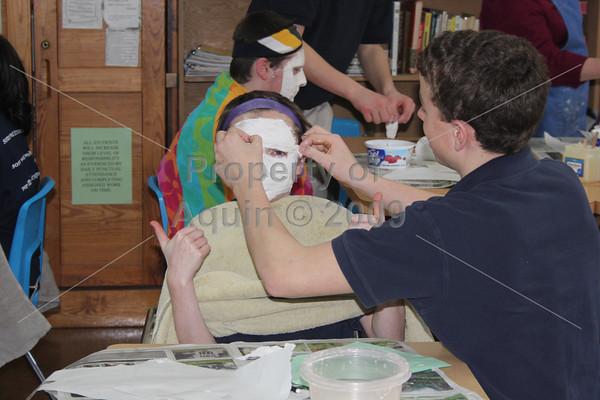 8th grade plaster masks . 2.28.11