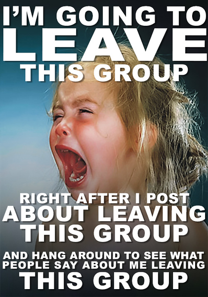 Girl Tantrum — Unlike Leave Group Chat