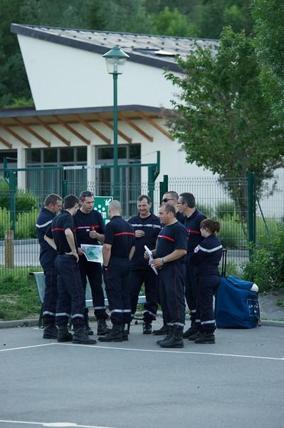 Pompiers exercice école
