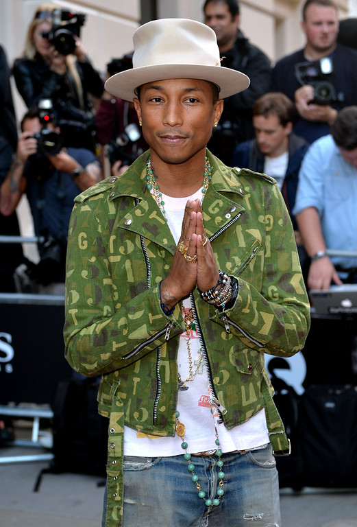 . Pharrell Williams attends the GQ Men of the Year awards at The Royal Opera House on September 2, 2014 in London, England.  (Photo by Anthony Harvey/Getty Images)