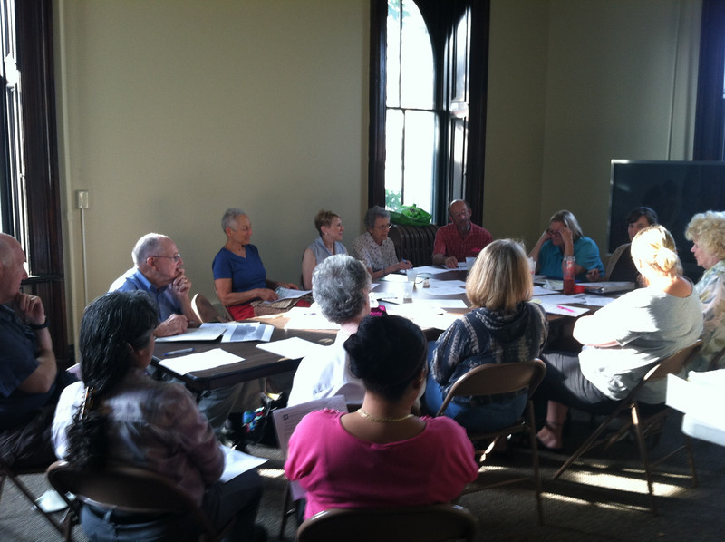 Friends of the Library board meeting. August 8, 2012.